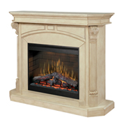 "Bromley 30"" Wall Mantel and Fireplace, Parchement - Dimplex"