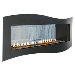 48 Boulevard Contemporary Curved Vent Free See-Thru Fireplace (Millivolt/Pilot) - Empire Comfort Systems
