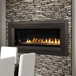 43 Vent Free Linear Fireplace With Remote Electronic