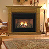 "36"" Corner Surround with Hearth, Honey Oak or Dark Cherry Finish - Monessen"