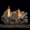 "24"" Highland Oak Refractory Logs with 24"" Natural Blaze Total Signature Command Vent Free Burner (Electronic Ignition) - Monessen"
