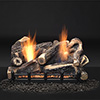 "30"" Kentucky Wildwood Refractory Logs with 24"" Natural Blaze Total Signature Command Vent Free Burner (Electronic Ignition) - Monessen"