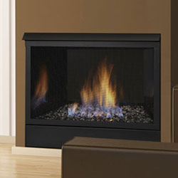 Warm up a small space with the performance of the Symphony vent free system from Monessen. Designed to be slim