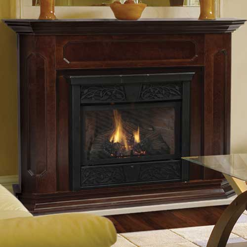 Monessen Fireplaces, Fireplace Inserts and Gas Logs - Great Selection -  MONESSEN UNVENTED GAS FIREPLACE - Ventless Gas Fireplace Mantel IDI Design